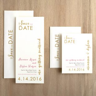 Gold & Glitter Save the Dates