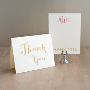Gold & Glitter Thank You Cards