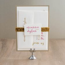 goldandglitterweddinginvitaitons