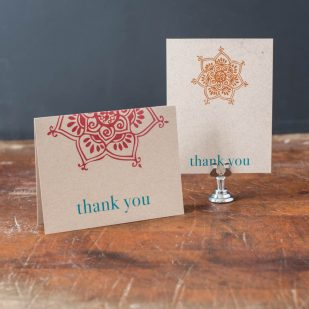 Henna Love Thank You Cards