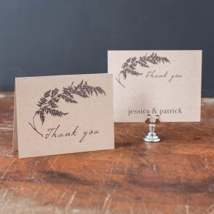 Ivory Romance Thank You Cards