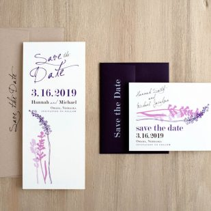 Lavender in Love Save the Dates