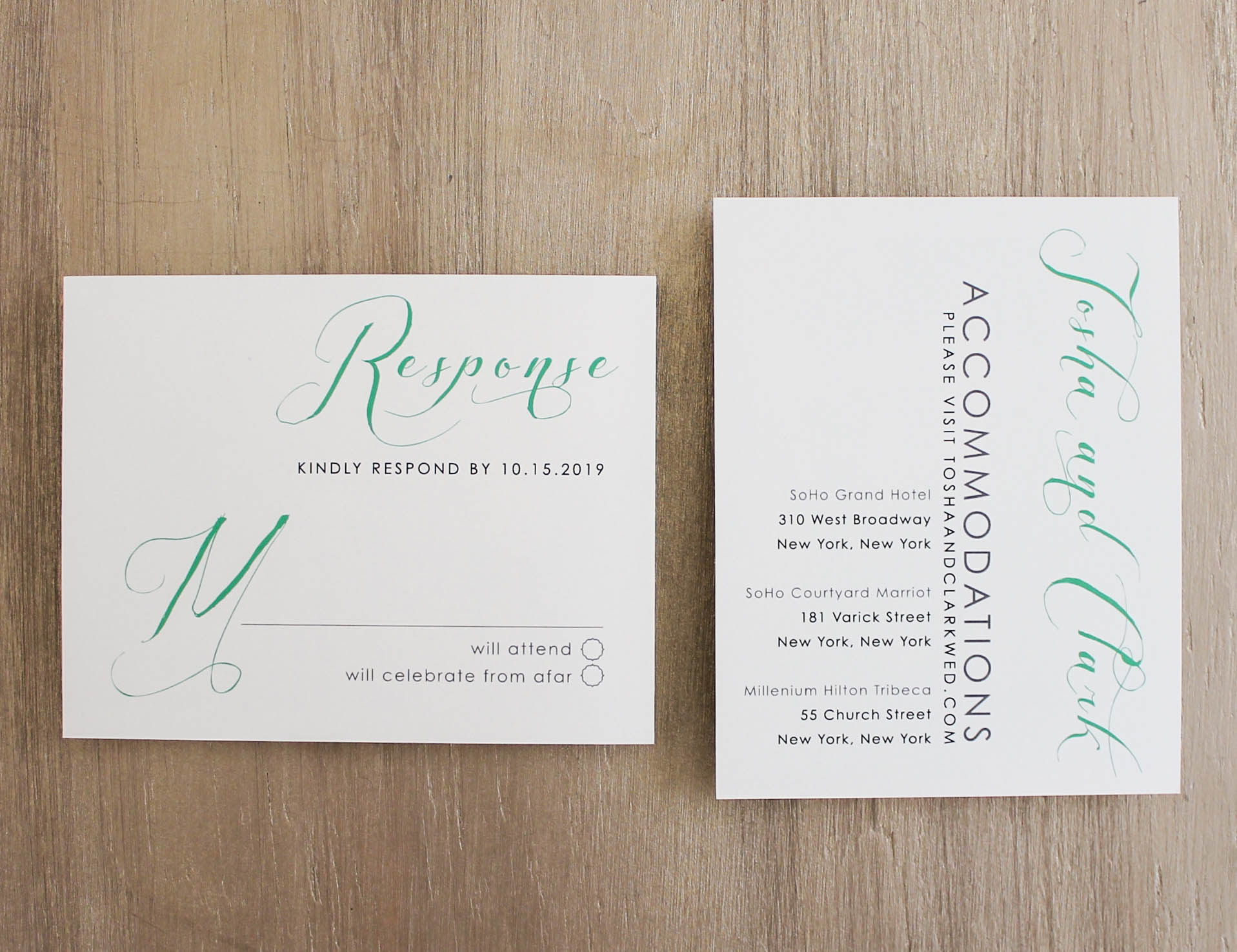 mint script customizable elegant green wedding invitations beacon lane