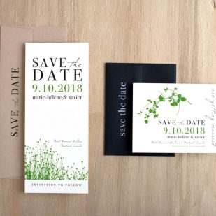 Modern Garden Save the Dates