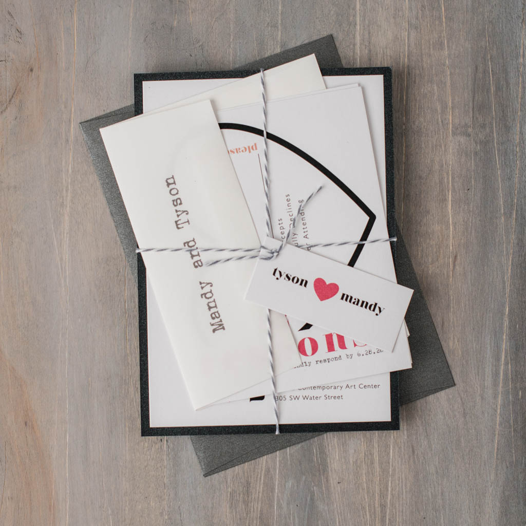 Modern Hearts Customizable Black Amp White Wedding Invitations