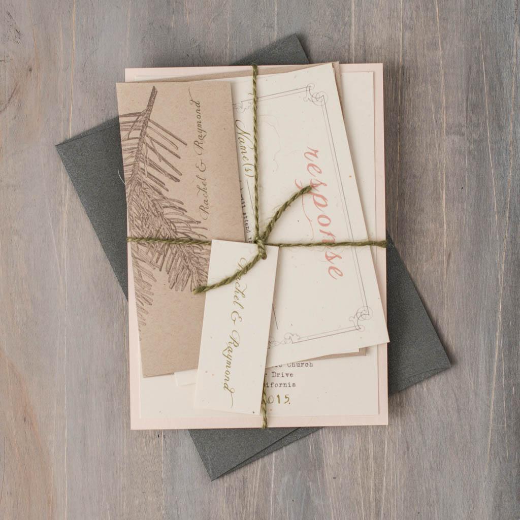 moss tree customizable destination wedding invitations beacon lane - Tree Wedding Invitations
