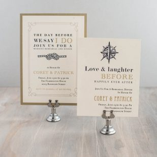 Nautical Bliss Rehearsal Invitations