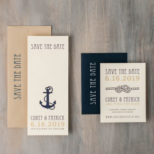 Nautical Bliss Save the Dates