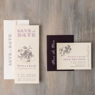Purple Charmer Save the Dates