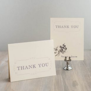 Purple Charmer Thank You Cards