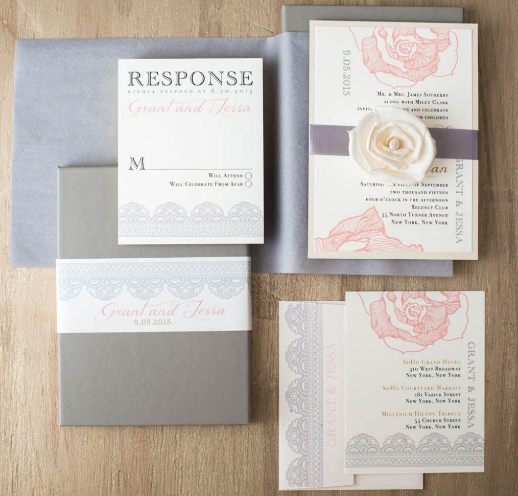 Ruffled Romance Boxed Wedding Invitations
