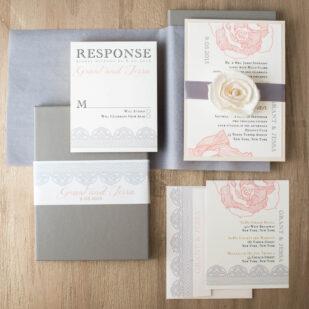 Ruffled Romance Wedding Invitations