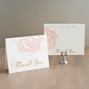 Ruffled Romance Thank You Cards