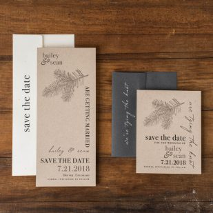 Rustic Charm Save the Dates