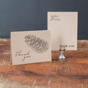 Rustic Charm Thank You Cards