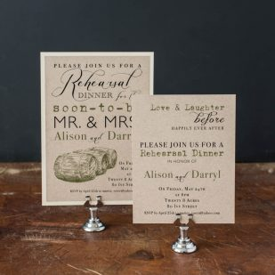 Rustic Chic Winery Rehearsal Invitations