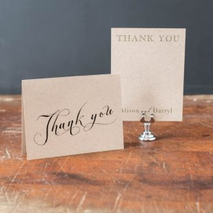 Rustic Chic Winery Thank You Cards