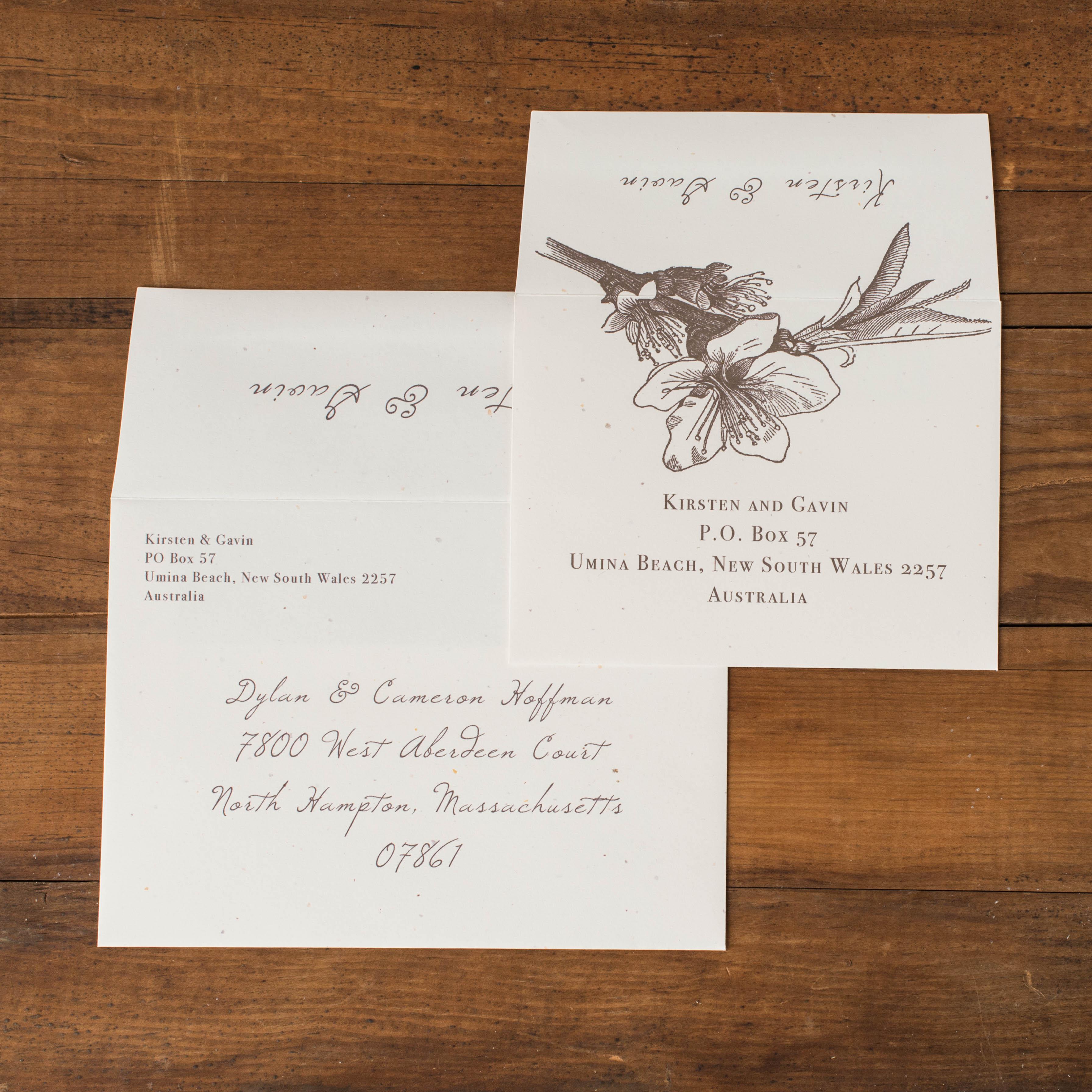 Rustic Magnolia Customizable Brown & Ivory Wedding Invitations ...