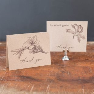 Rustic Magnolia Thank You Cards