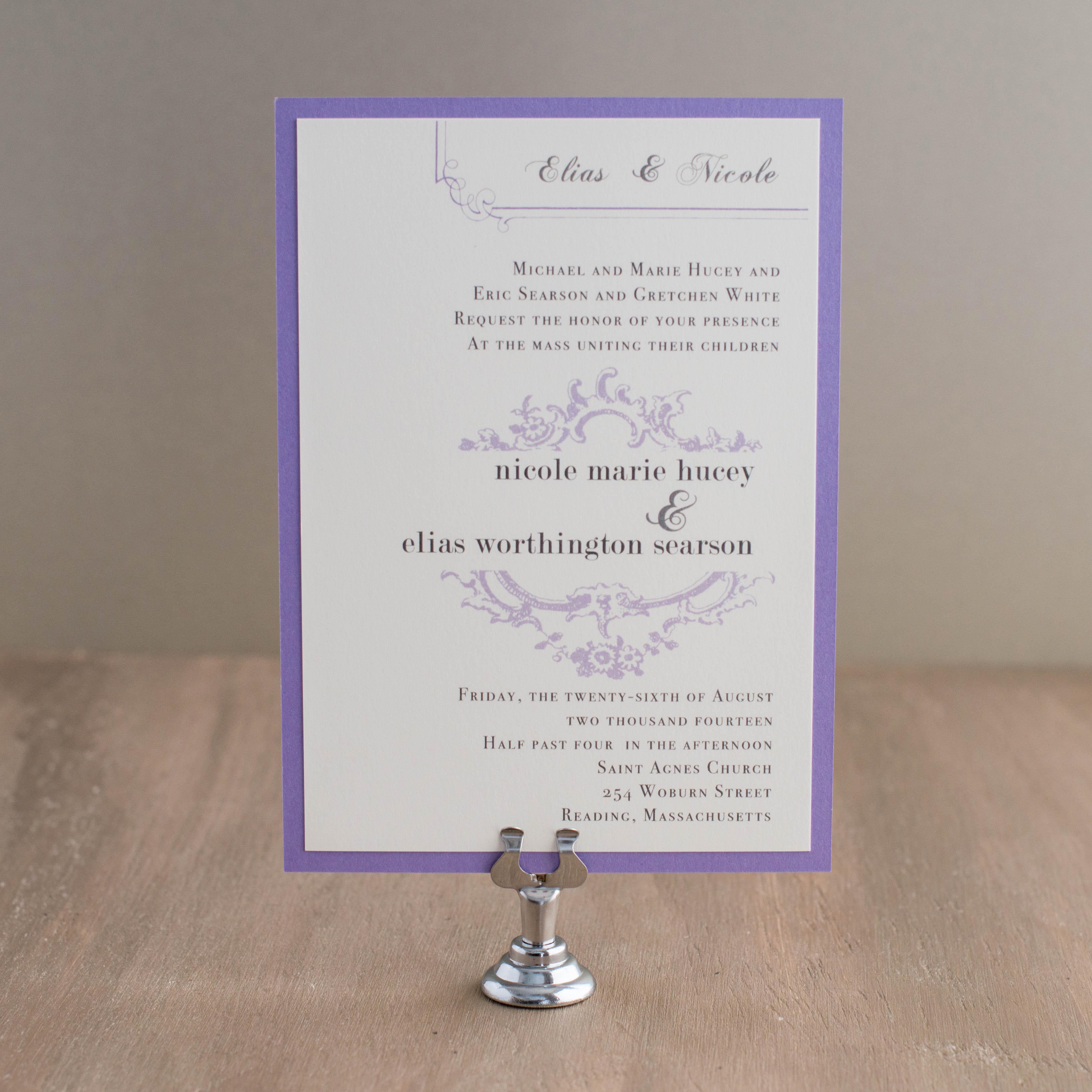 Shabby Chic Customizable Vintage Ivory Wedding Invitations | Beacon Lane