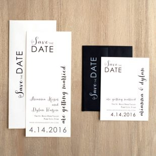 Silver & Glitter Save the Dates