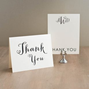 Silver & Glitter Thank You Cards