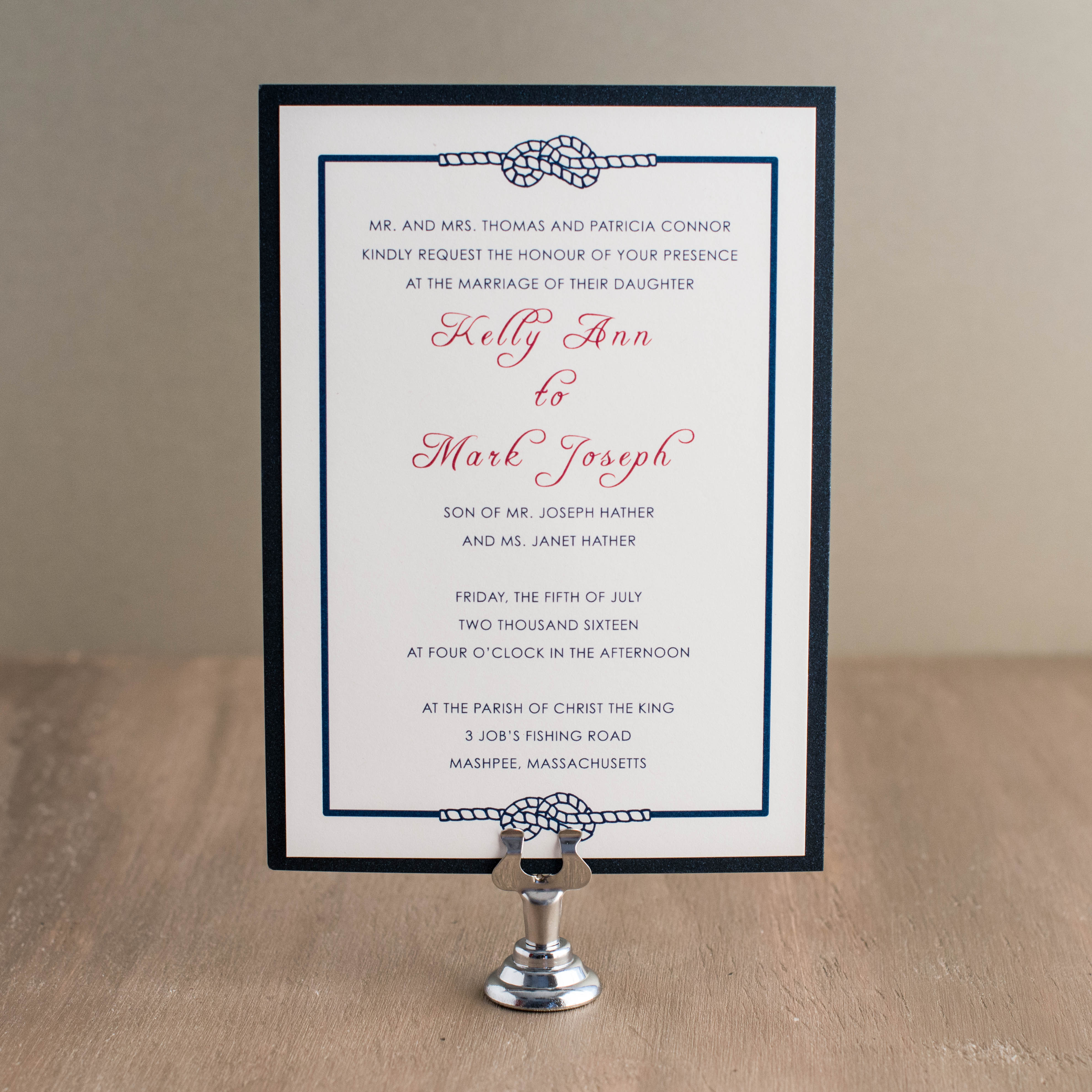 Stars & Stripes Customizable Red, White & Blue Wedding Invitations ...