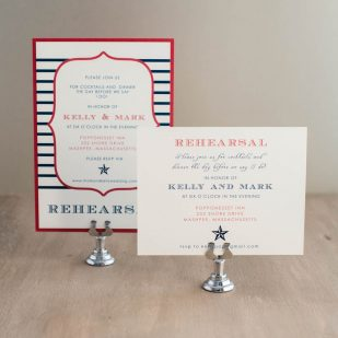 Stars & Stripes Rehearsal Invitations