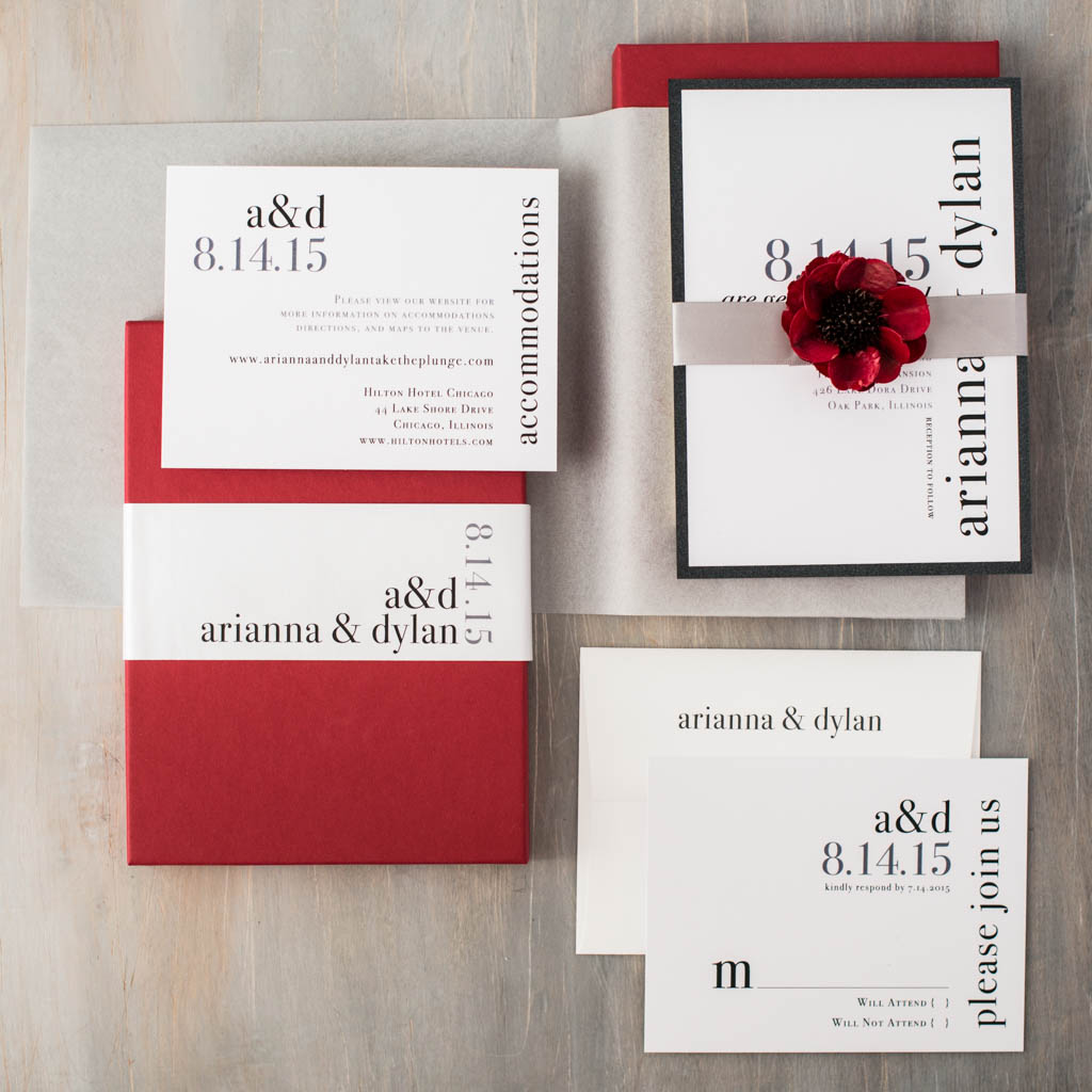 Urban Elegance Customizable Boxed Modern Wedding Invitations ...