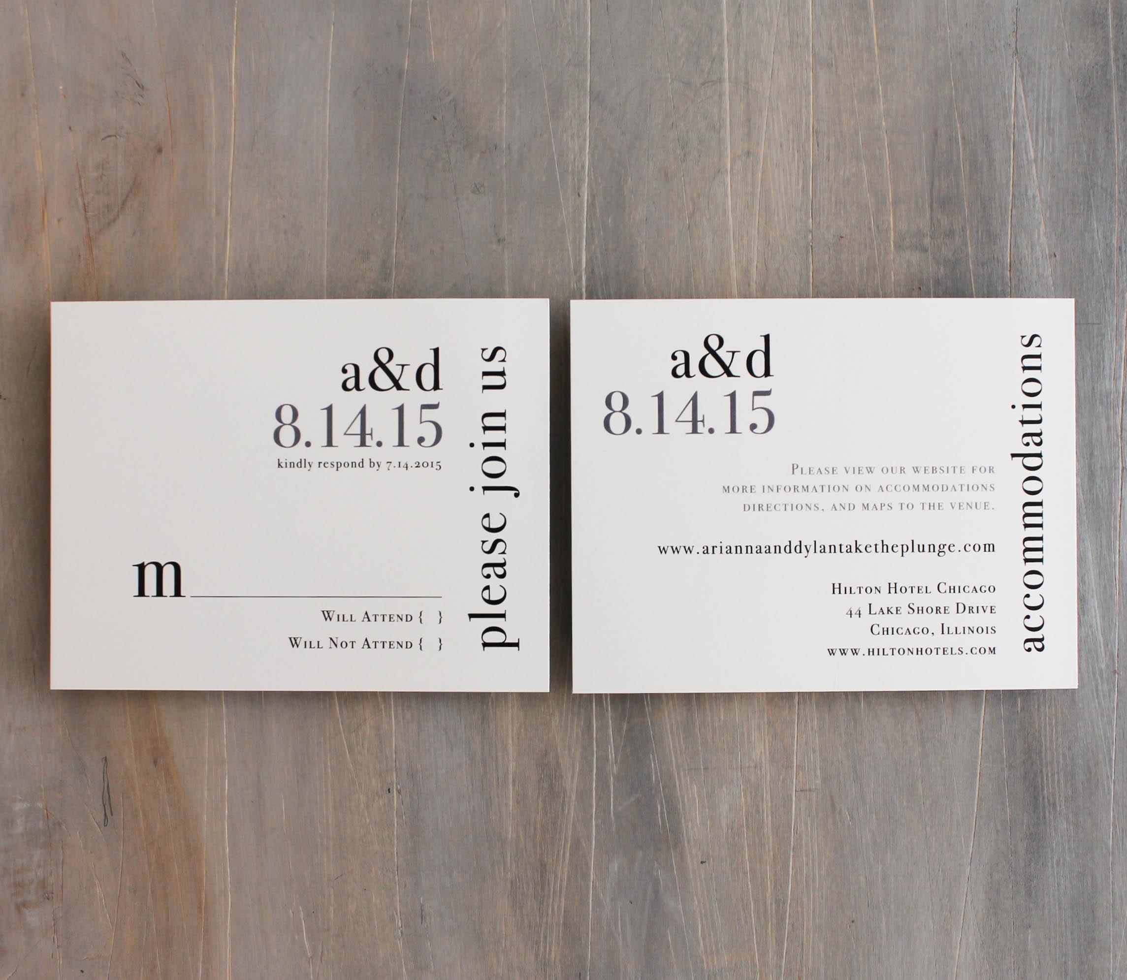 Urban Elegance Customizable Modern Wedding Invitations | Beacon Lane