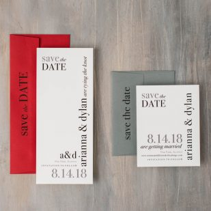 Urban Elegance Save the Dates