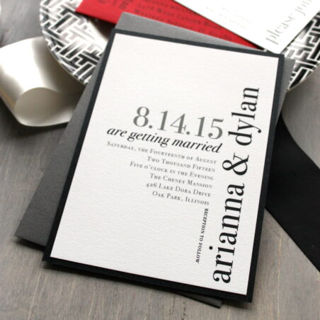 Urban Elegance Wedding Invitations