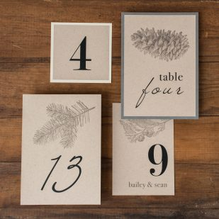 Rustic Charm Flat Table Numbers