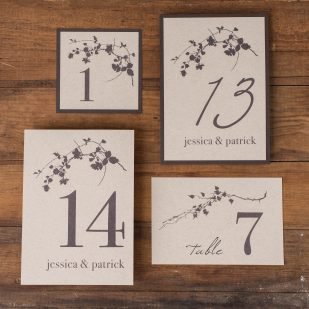 Ivory Romance Flat Table Numbers