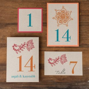 Henna Love Flat Table Numbers