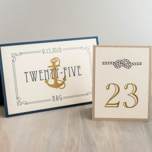 Nautical Bliss Tented Table Numbers