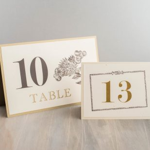 Farm Chic Tented Table Numbers