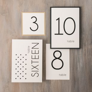 Hearts & Lace Flat Table Numbers