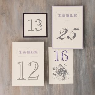 Purple Charmer Flat Table Numbers