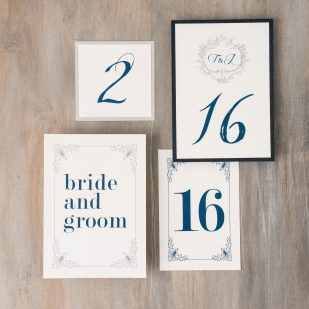 Classic Love Flat Table Numbers