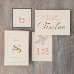 Moss Tree Flat Table Numbers