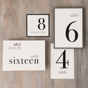 Urban Elegance Flat Table Numbers