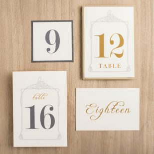 Antique Glitter Flat Table Numbers
