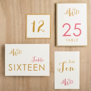 Gold & Glitter Flat Table Numbers