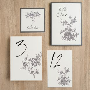 All White Flat Table Numbers