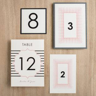 Modern Lace Flat Table Numbers
