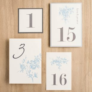 Elegant Blue Flat Table Numbers