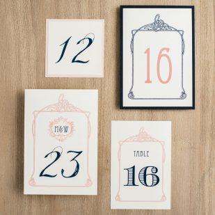 Deco & Lace Flat Table Numbers