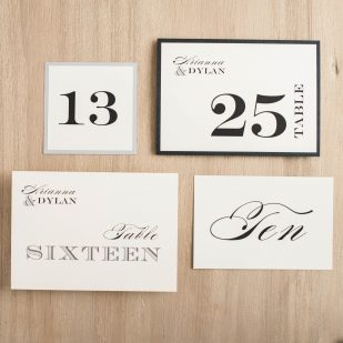 Classic Elegance Flat Table Numbers