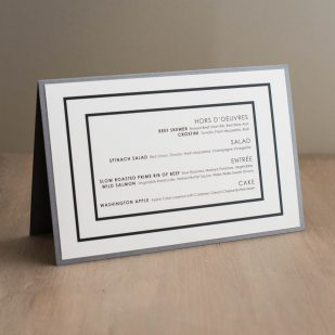 Modern Lace Tented Menu Cards